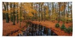 River Through Autumn Beach Sheet