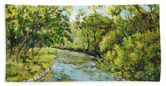 River Through The Forest Beach Towel