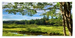 Beach Towel featuring the photograph River Under The Maple Tree by David Patterson