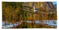 River View Yosemite Falls Beach Towel