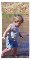 Beach Towel featuring the photograph River Wading by Deleas Kilgore