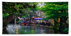 River Walk Dining Beach Towel