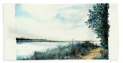 River Walk Beach Towel by Heidi Kriel