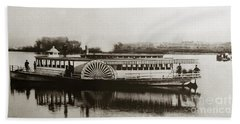 Riverboat  Mayflower Of Plymouth   Susquehanna River Near Wilkes Barre Pennsylvania Late 1800s Beach Towel