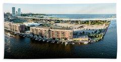 Beach Towel featuring the photograph Riverfront by Randy Scherkenbach