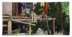 Riverside House And It's Laundry Beach Towel