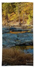 Beach Towel featuring the photograph Riverside by Iris Greenwell
