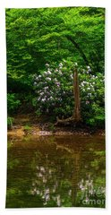 Riverside Rhododendron Beach Towel