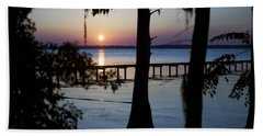 Riverside Sunset Beach Towel