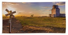 End Of The Day On The Montana Hi Line Beach Towel
