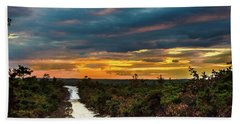 Road Into The Pinelands Beach Towel
