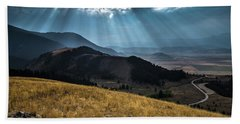 Road To Curtis Canyon Beach Towel