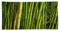 Road To Hana Bamboo Panorama - Maui Hawaii Beach Towel