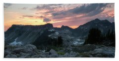 Road To Heather Meadows Beach Towel