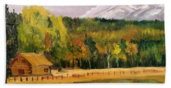 Road To Kintla Lake Beach Towel by Larry Hamilton