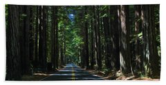 Road To Mendocino Beach Towel