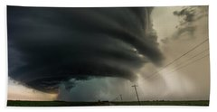 Beach Towel featuring the photograph Road To Mesocyclone by Aaron J Groen