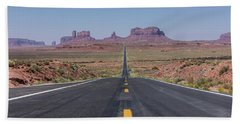 Road To Monument Valley  Beach Towel