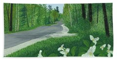 Road To Northport - Spring Beach Towel