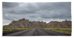 Road To The Badlands  Beach Towel
