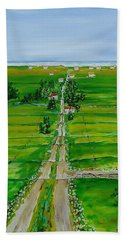 Road To The Beach Beach Towel by Mike Caitham
