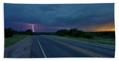 Road To The Storm Beach Sheet by Ed Sweeney