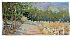 Road To The Vineyard Beach Towel