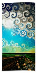 Road To Whimsy Beach Towel