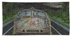 Road Trip In The Rain Beach Towel