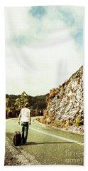 Road Tripping Tasmania Beach Towel