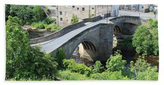 Roadbridge Over The River Tees Beach Towel