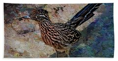 Roadrunner Making Nest Beach Towel