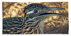 Roadrunner Portrait Beach Sheet