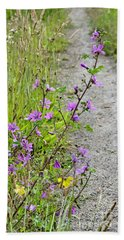 Roadside Flowers Beach Sheet