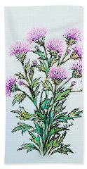 Roadside Thistles Beach Towel