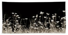 Roadside Wildflowers Beach Towel