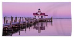 Roanoke Marshes Lighthouse  Beach Sheet