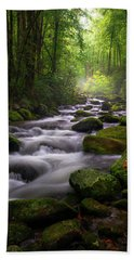 Great Smoky Mountains Roaring Fork Gatlinburg Tennessee Beach Towel