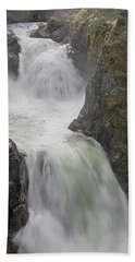 Beach Towel featuring the photograph Roaring River by Randy Hall