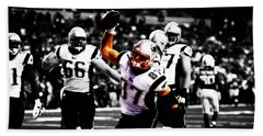 Rob Gronkowski Touchdown Beach Sheet by Brian Reaves