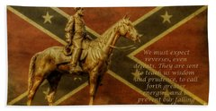 Robert E Lee Inspirational Quote Beach Sheet