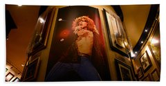 Robert Plant At The Hard Rock Beach Towel by David Lee Thompson