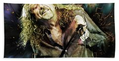 Robert Plant Beach Towel by Mal Bray