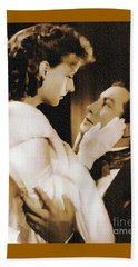 Robert Taylor And Greta Garbo Beach Towel