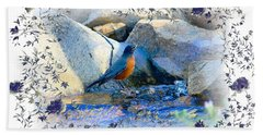 Beach Towel featuring the photograph Robin by Athala Carole Bruckner
