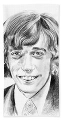 Robin Gibb Drawing Beach Towel