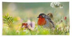 Robin Red Breast Beach Sheet