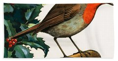 Robin Redbreast Beach Towel