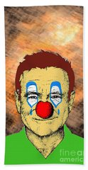 Beach Sheet featuring the drawing Robin Williams 1 by Jason Tricktop Matthews