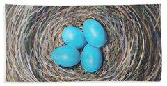 Robin's Eggs Beach Towel